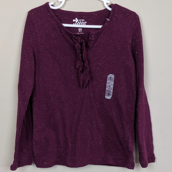 Old Navy Other - Old Navy Sparkley Purple Long Sleeve Girls 6-7 S